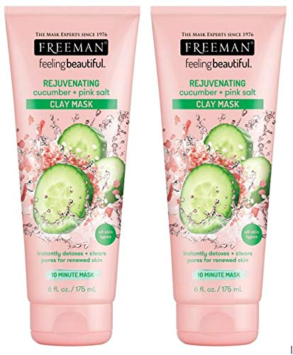 Freeman - Freeman Rejuvenating Clay Facial Mask, Purifying, Exfoliating, and Detoxifying Beauty Face Mask, 6 oz, 2 Pack