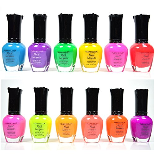 Kleancolor - KLEANCOLOR NEON COLORS 12 FULL COLLETION SET NAIL POLISH LACQUER