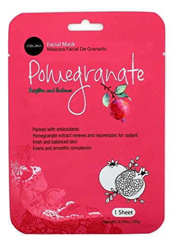 Celavi Cosmetics - Essence Facial Sheet Mask, Pomegranate