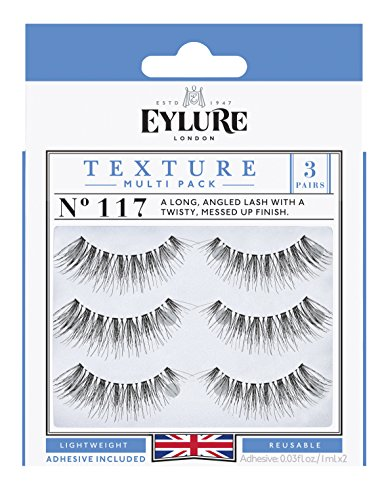 Eylure - Eylure Texture False Lash, Style No. 117, Reusable, Adhesive Included, 3 Pair