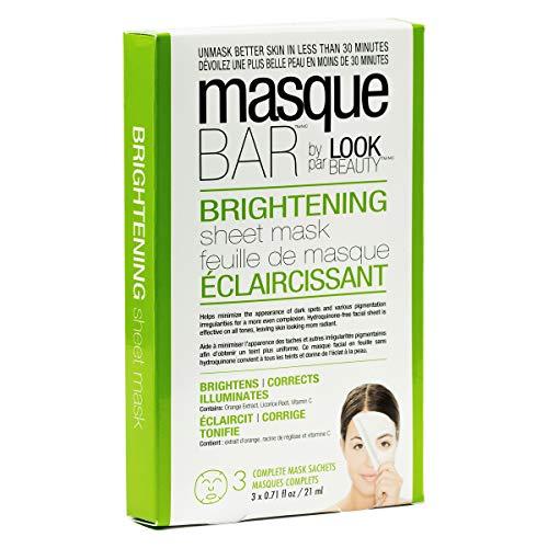 Masque Bar - masque BAR Brightening Sheet Mask - Helps Minimize Dark Spots, Pigmentation for Even Complexion, 3 Set