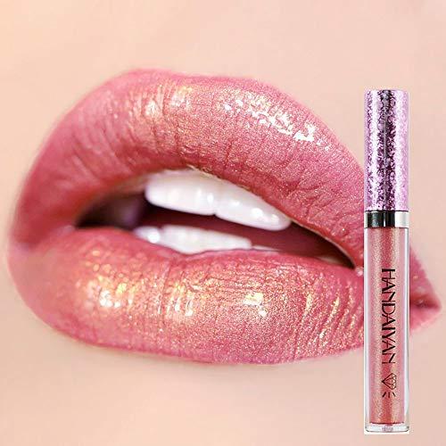 DONGXIUB - \Metallic Diamond Liquid Glitter Shimmer Lipstick Nonstick Cup Makeup Lip Gloss
