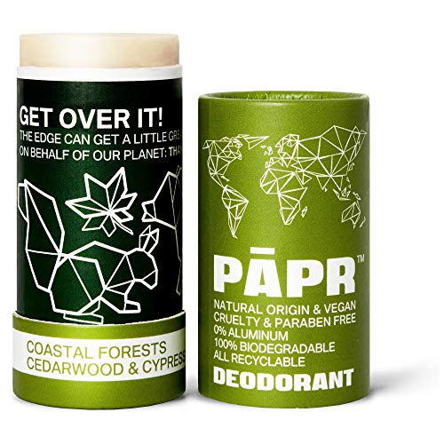 PĀPR PAPR-All Natural Deodorant In Biodegradable Zero Waste Packaging, Vegan Paper Deodorant for Men and Women, No Artificial Fragrance…