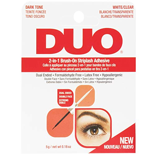 DUO - Adhesives, 2-in-1 Brush On Clear & Dark Adhesive