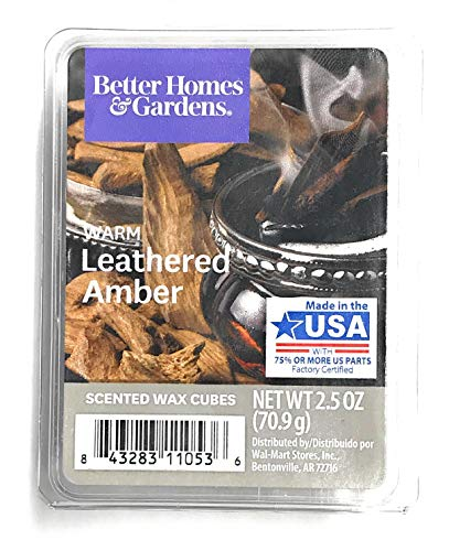 Better Homes - Better Homes & Gardens Scented Wax Cubes, 2.5 oz (Warm Leathered Amber, 2.5 Oz)