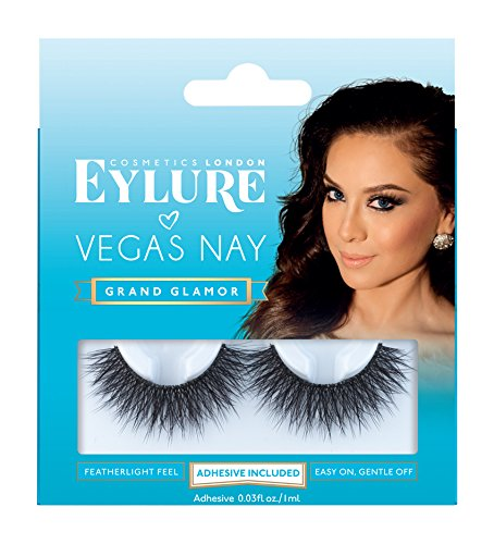 Eylure - Eylure Vegas Nay Grand Glamour Fake Eyelashes, Reusable, Adhesive Included, 1 Pair