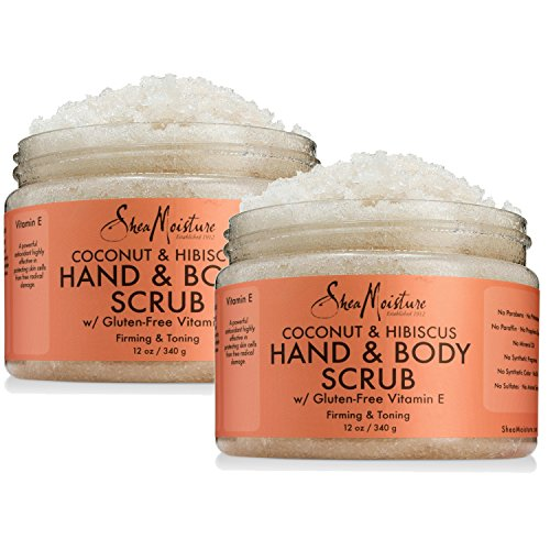 Sheamoisture - Shea Moisture Coconut & Hibiscus Hand & Body Scrub, 12 Oz, Pack of 2