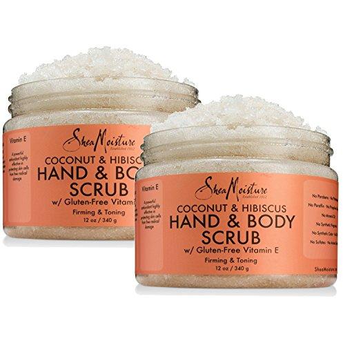 Shea Moisture - Shea Moisture Coconut & Hibiscus Hand & Body Scrub, 12 Oz, Pack of 2