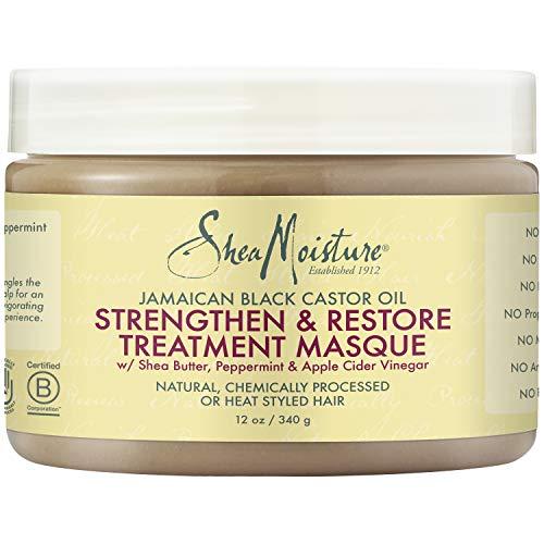 Sheamoisture - SheaMoisture Jamaican Black Castor Oil Intensive Strengthening Masque Hair Treatment, 12 Ounce