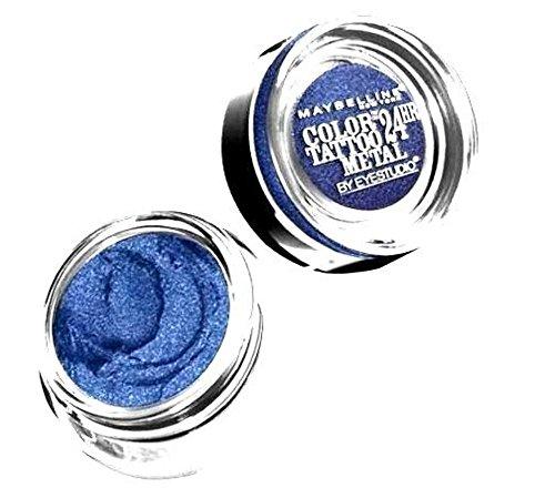 Maybelline - Maybelline New York Eye Studio Color Tattoo Metal 24 Hour Cream Gel Eyeshadow, Electric Blue, 0.14 Ounce (Pack of 2)