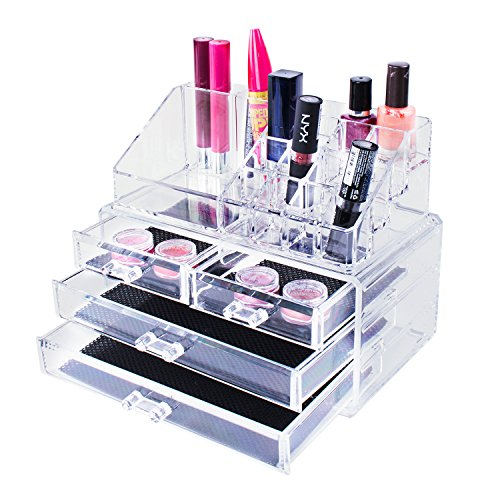 Super Z Outlet - Transparent Cosmetic Makeup Acrylic Organizer Drawers Set