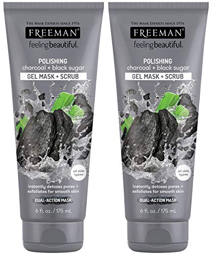Freeman - Freeman Feeling Beautiful Charcoal & Black Sugar Gel Mask and Scrub