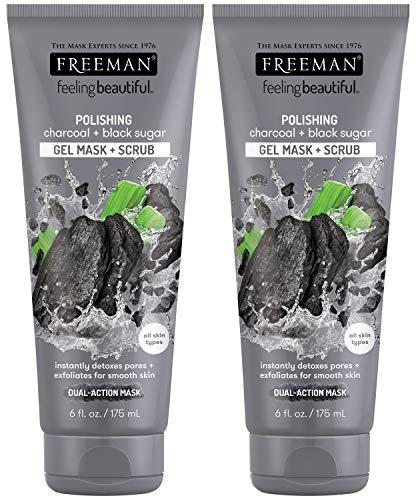 Freeman - Freeman Feeling Beautiful Charcoal & Black Sugar Gel Mask and Scrub
