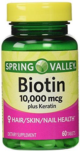 Spring Valley - Biotin Dietary Supplement, Keratin
