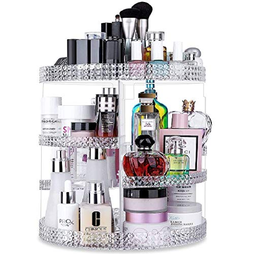 Awenia - Awenia Makeup Organizer 360-Degree Rotating, Adjustable Multi-Function Makeup Storage, 7 Layers Large Capacity Cosmetic Storage Unit, Fits Different Types of Cosmetics and Accessories, Plus Size