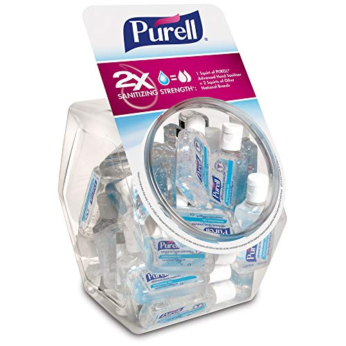 Purell - PURELL Advanced Hand Sanitizer, Refreshing Gel, 36 - 1 fl oz Portable, Travel Sized Flip Cap Bottles with Display Bowl – 3901-BWL