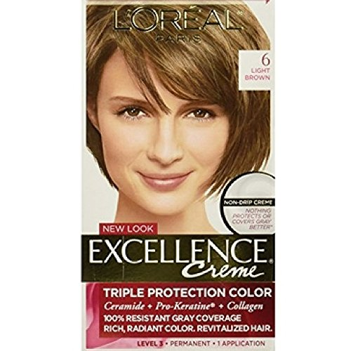 L'Oreal Paris - L'Oreal Excellence Creme, Light Brown [6] 1 Each (Pack of 6)