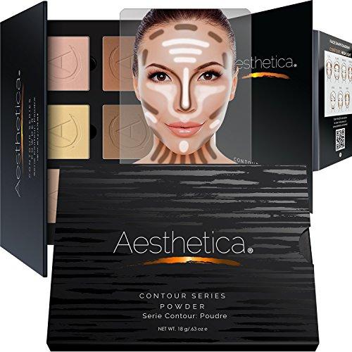 Aesthetica - Aesthetica Cosmetics Contour Kit - Powder Contour, Highlighter & Bronzer - Fair to Medium Skin Tones