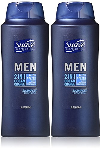 Suave - Suave Professionals Mens, 2-in-1 Shampoo & Conditioner, Ocean Charge, 28 Oz (Pack of 2)