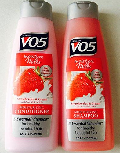 Alberto VO5 - Alberto V05 Moisture Milks Strawberries & Cream Moisturizing Shampoo & Conditioner Set (12.5 fl.oz) by Alberto VO5