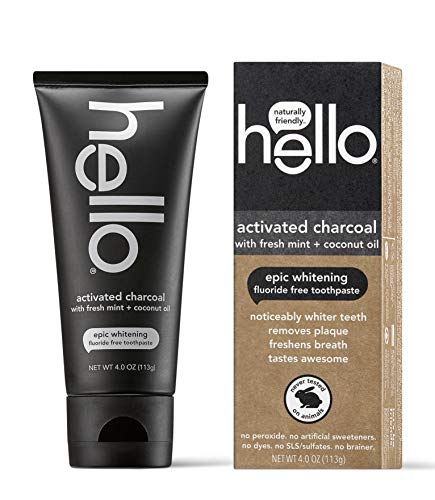 Hello Oral Care - Activated Charcoal Teeth Whitening Fluoride Free Toothpaste