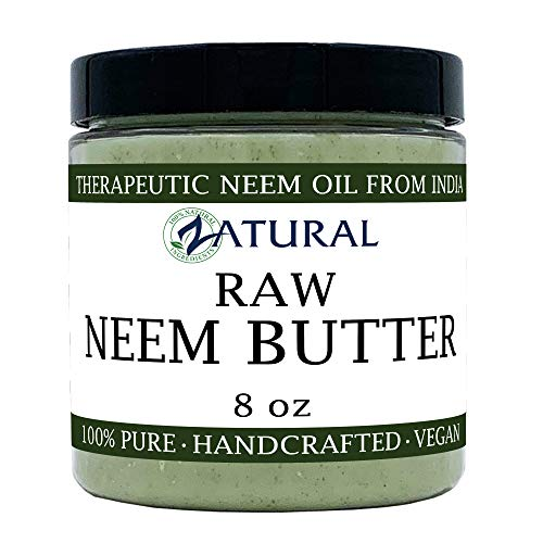 Zatural - Organic Neem Butter-Shea Butter, Coconut Oil, Neem Oil, Neem Leaf, Marula Oil, Kokum Butter, Rosemary (8 Ounce)