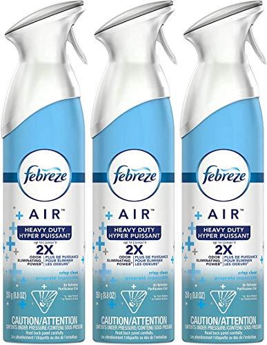 Febreze - Febreze Air Freshener Heavy Duty, Crisp Clean (1 Count, 8.8 Oz)