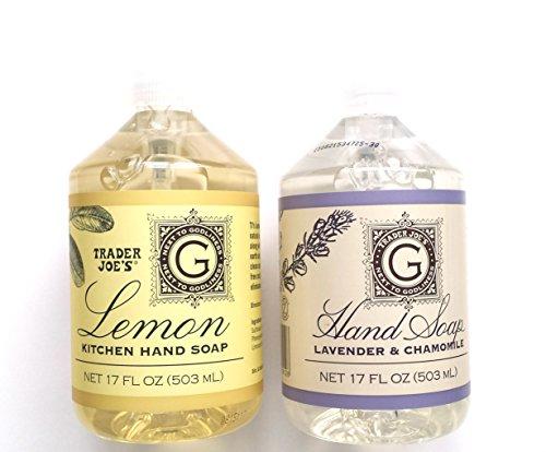 Trader Joe'S - Trader Joe's Hand Soap Bundle: Lemon Kitchen Hand Soap 17 Oz and Lavender and Chamomile Hand Soap