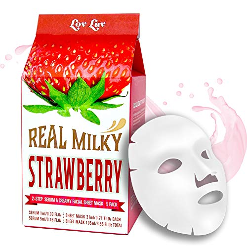 Lovluv - Real Milky Strawberry Face Masks