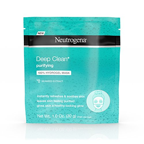 Neutrogena - Neutrogena Deep Clean Purifying Hydrating 100% Hydrogel Face Mask, Oil-Free with Seaweed Extract, 1.0 oz (Pack of 12)