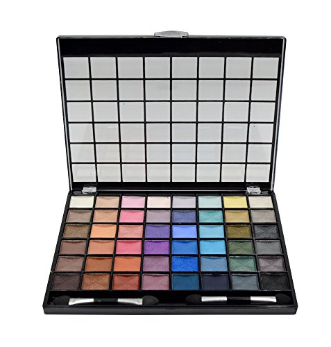 Bys - BYS 48 Shade Large Eyeshadow Palette with 2 Double Ended Applicators, Matte and Shimmer