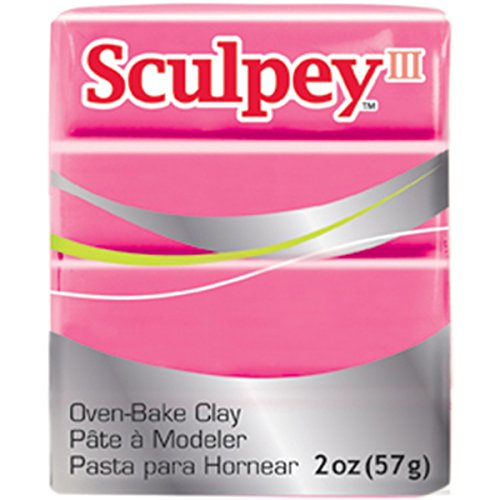 Sculpey Sculpey III Polymer Clay 2 Ounces-Candy Pink