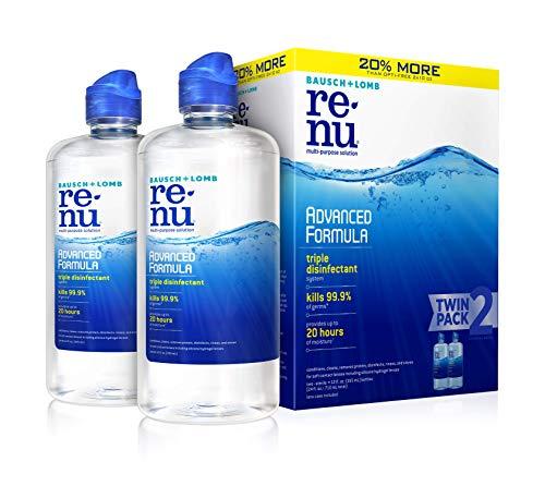 Renu - Bausch + Lomb ReNu Lens Solution, Advanced Triple Disinfect Formula, Multi-Purpose, 12 Ounce Bottle Twinpack