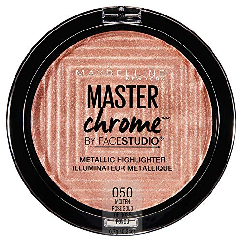 Maybelline - Facestudio Master Chrome Metallic Highlighter Makeup, Molten Rose Gold