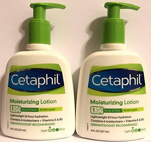 Cetaphil - Cetaphil Moisturizing Lotion - Body & Face - For All Skin Types - Net Wt. 8 FL OZ (237 mL) Per Bottle - Pack of 3 Bottles
