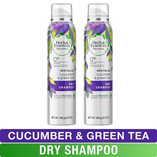 Herbal Essences - Herbal Essences, Dry Shampoo, BioRenew Cucumber & Green Tea, 4.9 fl oz, Twin Pack
