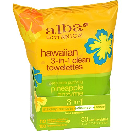 Alba Botanica - Alba Botanica Hawaiian 3-In-1 Clean Towelettes, 30 ct