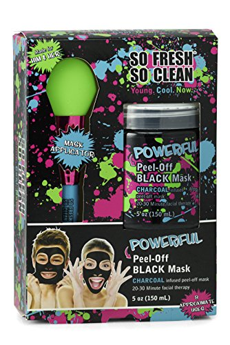So Fresh So Clean - Black: Charcoal Gel Face Mask 5 Oz with Applicator