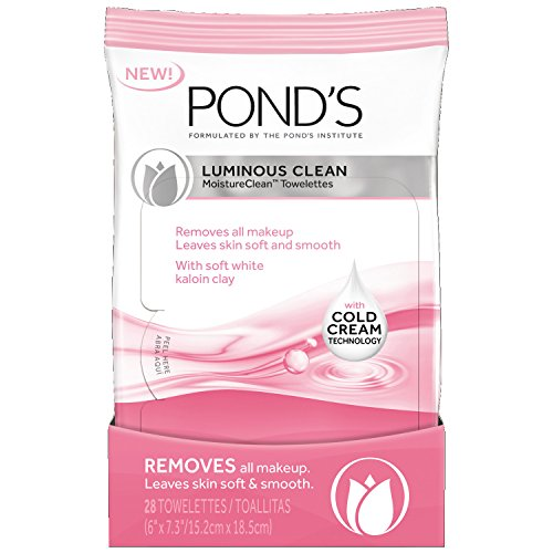 Pond's - Pond's Moisture Clean Towelettes, Luminous Clean 28 ct (Pack of 3)