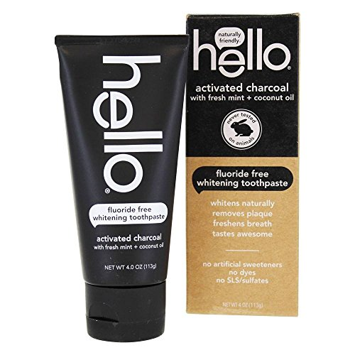 Hello - Hello Activated Charcoal Whitening Toothpaste (Pack of 4)