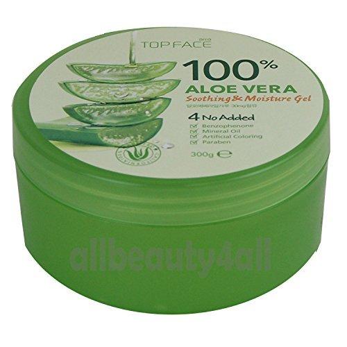 top face - 100% Aloe Vera Soothing & Moisture Gel (Made in Korea)