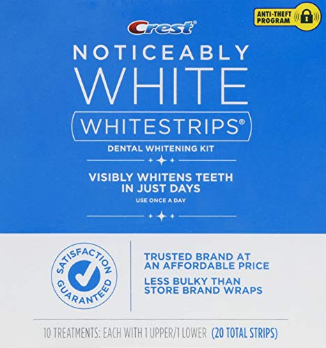 Crest - Crest Noticeably White Whitestrips, 10 Treatments, (20 Total Strips)