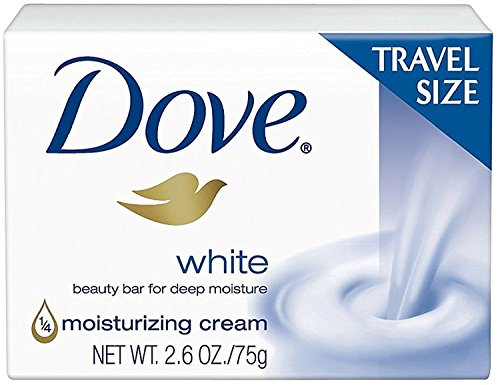 Dove - Dove White Travel Size Bar Soap With Moisturizing Cream 2.6 oz