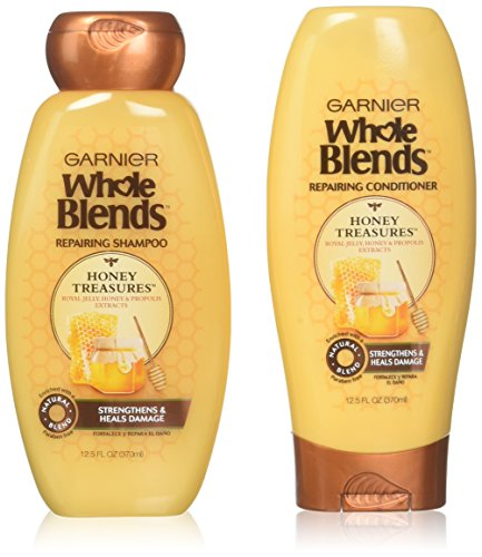 Garnier - Garnier Whole Blends Honey Treasures Shampoo and Conditioner 12.5 Ounces each
