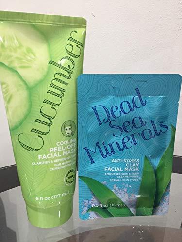 Dead Sea Minerals - Set Cucumber cooling peel - off Facial Mask & Dead Sea Minerals anti stress clay facial mask. (mascarilla facial para todo tipo de piel)