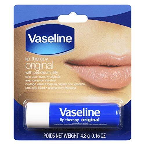 Vaseline - Vaseline Lip Therapy Original | Lip Balm with Petroleum Jelly for Providing Your Lips with Ultimate Hydration and Essential Moisture to Treat Chapped, Dry, Peeling, or Cracked Lips; 0.16 Oz (3 Pack)
