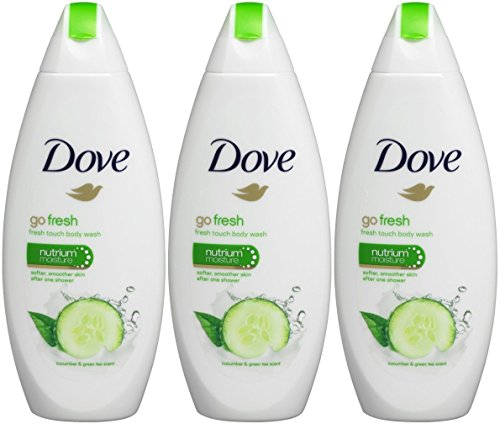 Dove - Dove Go Fresh Cool Moisture Fresh Touch Body Wash Cucumber and Green Tea 16.9 Oz / 500 Ml (Pack of 3)