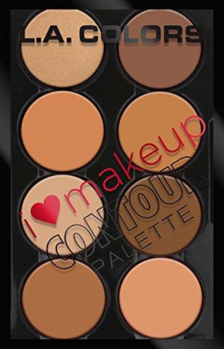 L. A. Colors - L.A. Colors I Heart Makeup Brow Palette, Medium to Dark, 0.26 Ounce