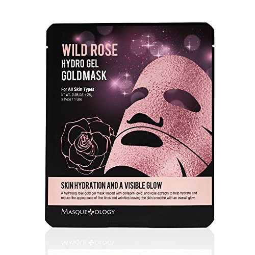 Masqueology - Wild Rose Hydro Gel Gold Mask