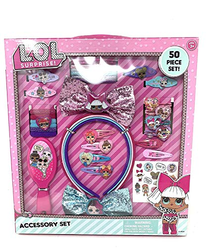 L.O.L. Surprise! - L.O.L Surprise! LOL Printed Hair Brush Set ( Terries, Hair Ponies, Headbands......)